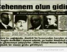 """Atatürk'ten Masonlara ; """"Cehennem olun gidin"""""""
